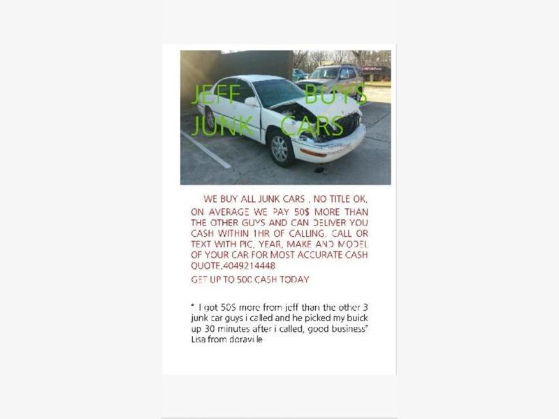 Auto Organs LLC - Jeff Buys Junk Cars! - Buckhead, GA Patch