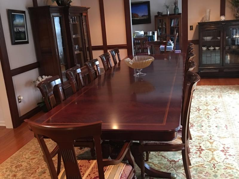 Merveilleux FOR SALE Solid Mahogany Dining Room Table U0026 14 Chairs