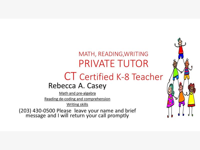 Certified Math Reading Writing Tutor East Haven Ct Patch