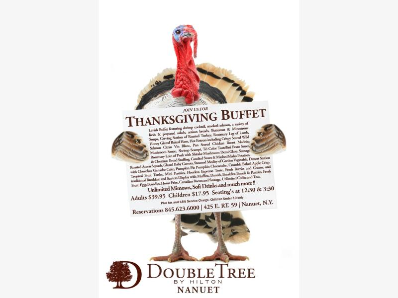 Thanksgiving Day Brunch at the DoubleTree by Hilton Nanuet - Nanuet, NY Patch