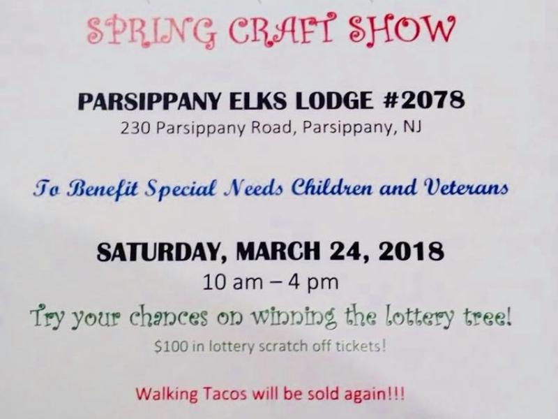 Parsippany Elks Craft/Vendor Show March 24th - Parsippany, NJ Patch