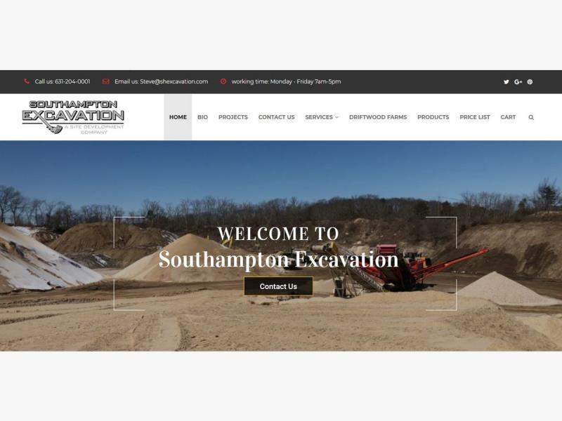 Steven M Mezynieski of Southampton Excavation announces launch of E-Commerce Website