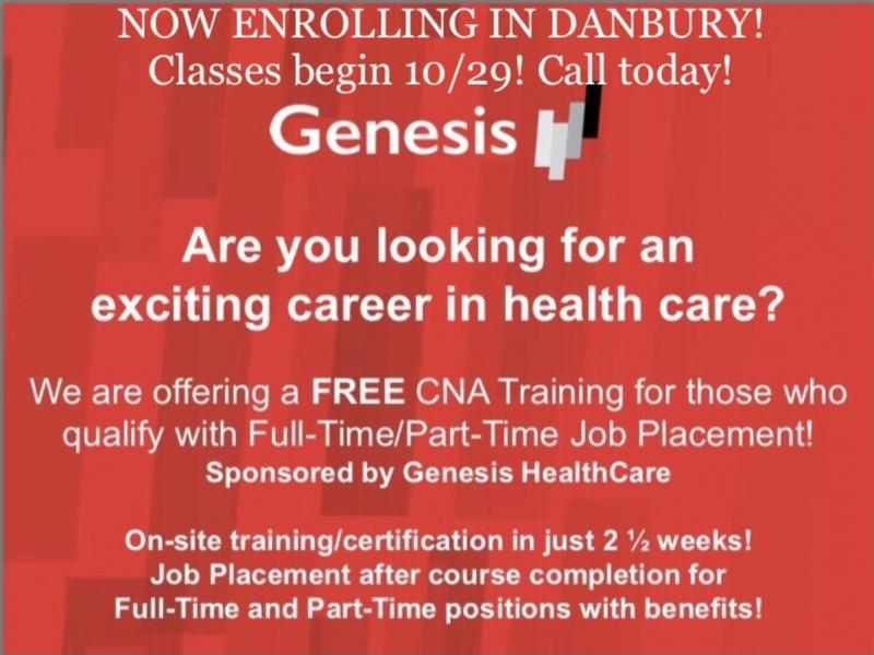 Free Cna Course Sponsorship Enrolling Now Danbury Ct Patch