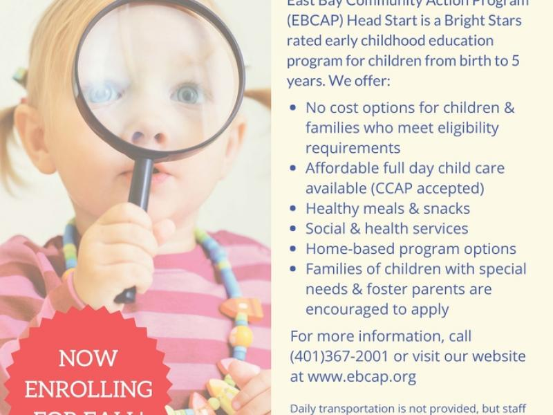 EBCAP Head Start Now Enrolling! - Newport, RI Patch