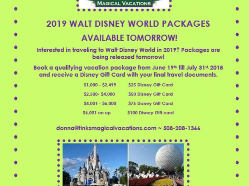 Walt Disney World 2019 Packages Holliston Ma Patch
