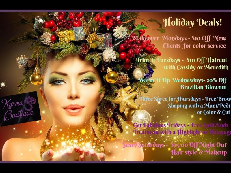 Karma Boutique - Holiday Hair, Makeup, Nails, Skincare & gift shopping! - Emmaus, PA Patch