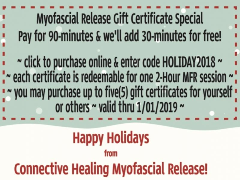 connective healing myofascial release holiday special get 60 off