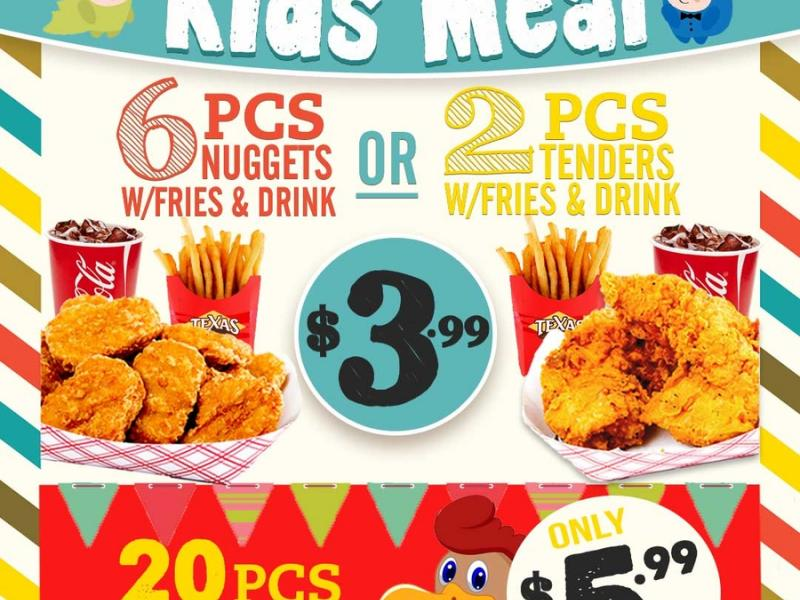 Kids Meal Deal Only At Texas Chicken Burgers