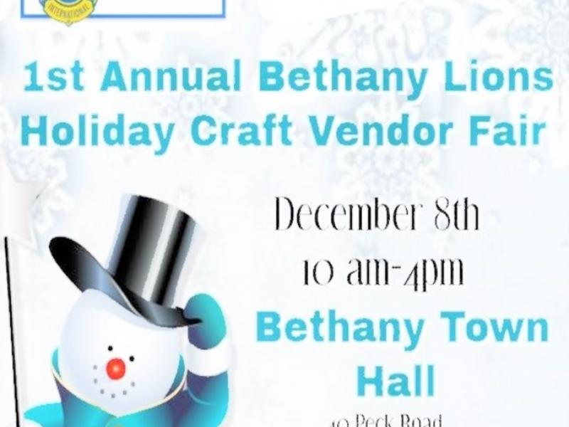 12/8 (Sat.) Bethany Lions - Holiday Artisan, Craft and Vendor Fair! - Bethwood, CT Patch