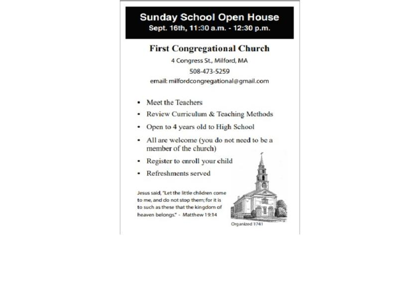 Sunday School Open House - Milford, MA Patch