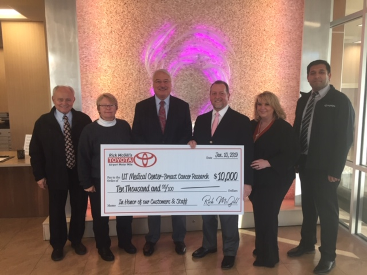 Rick Mcgill S Airport Toyota Donates 30 000 Over Past Three Years To Ut Medical Center Cancer Insute