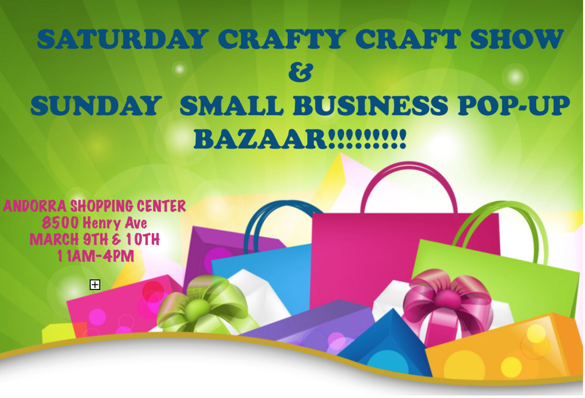 Pre-Spring Crafty Craft Show and Small Business Pop-Up Bazaar THIS WEEKEND!!!! - Roxborough, PA Patch